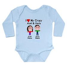 Personalize crazy aunt Long Sleeve Infant Bodysuit