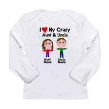 Personalize crazy aunt Long Sleeve Infant T-Shirt