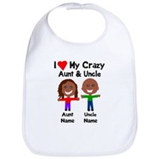 Personalize crazy aunt uncle Bib