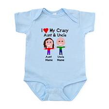 Personalize crazy aunt uncle Infant Bodysuit