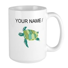 Custom Green Sea Turtle Mugs