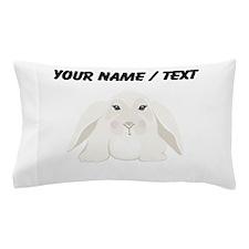 Custom White Bunny Pillow Case