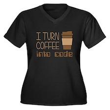 I Turn Coffee Into Programming Code Plus Size T-Sh