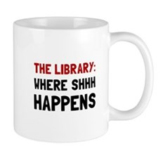 Library Shhh Happens Mugs
