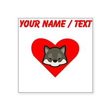 Custom Wolf Heart Sticker