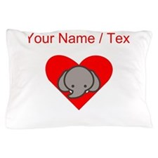 Custom Elephant Heart Pillow Case