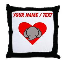Custom Elephant Heart Throw Pillow