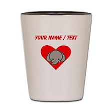Custom Elephant Heart Shot Glass
