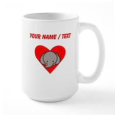 Custom Elephant Heart Mugs