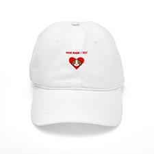Custom Puppy Heart Baseball Baseball Cap