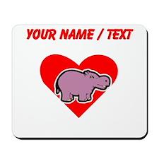 Custom Hippo Heart Mousepad