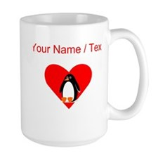 Custom Penguin Heart Mugs
