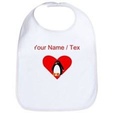Custom Penguin Heart Bib
