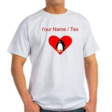 Custom Penguin Heart T-Shirt