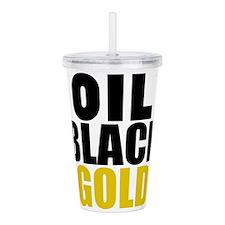 Oil Black Gold Acrylic Double-wall Tumbler