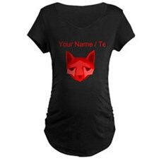 Custom Red Fox Maternity T-Shirt