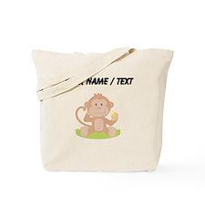 Custom Monkey Eating Banana Tote Bag