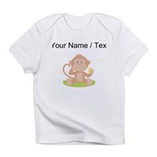 Custom Monkey Eating Banana Infant T-Shirt