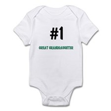 Number 1 GREAT GRANDDAUGHTER Infant Bodysuit