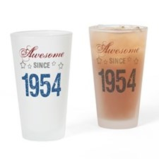 Awesome Since 1954 Drinking Glass