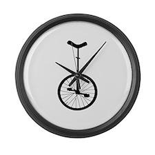Black Unicycle Large Wall Clock