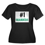 Number 1 GRANDKIDS Women's Plus Size Scoop Neck Da
