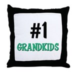 Number 1 GRANDKIDS Throw Pillow
