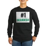 Number 1 GRANDKIDS Long Sleeve Dark T-Shirt