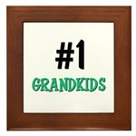 Number 1 GRANDKIDS Framed Tile