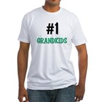 Number 1 GRANDKIDS Fitted T-Shirt