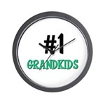 Number 1 GRANDKIDS Wall Clock