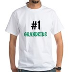 Number 1 GRANDKIDS White T-Shirt
