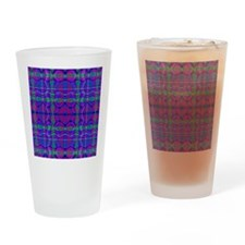 Kaleidoscope Plaid Drinking Glass