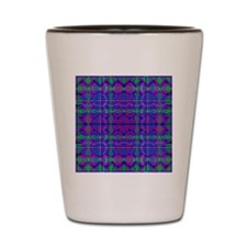 Kaleidoscope Plaid Shot Glass