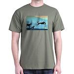 Dogs Chasing Ball Dark T-Shirt