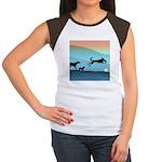Dogs Chasing Ball Women's Cap Sleeve T-Shirt