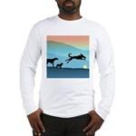 Dogs Chasing Ball Long Sleeve T-Shirt