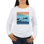Dogs Chasing Ball Women's Long Sleeve T-Shirt