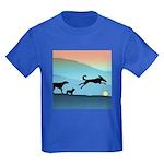 Dogs Chasing Ball Kids Dark T-Shirt