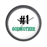 Number 1 GODMOTHER Wall Clock