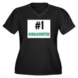 Number 1 GODDAUGHTER Women's Plus Size V-Neck Dark