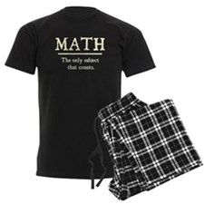 Math The Only Subject That Counts Pajamas