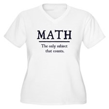 Math The Only Subject That Counts Plus Size T-Shir