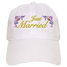 Just Married Yellow Baseball Cap