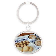 coffee~n~cookie Oval Keychain
