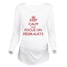 Unique Federalist Long Sleeve Maternity T-Shirt