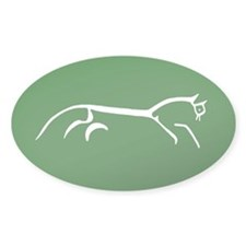 uffington white horse - Oval Decal