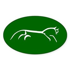 uffington white horse - Oval Stickers