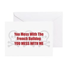 Mess With Bulldog Greeting Cards (Pk of 10)