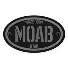 Moab Spraypaint Silver Sticker (oval)